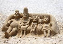 benidorm for families sand sculpture image